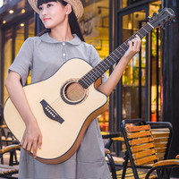 guitars 41 inch Acoustic Guitar Wood Color Rosewood Fingerboard Guitarra Tuner Strings With Hard Case