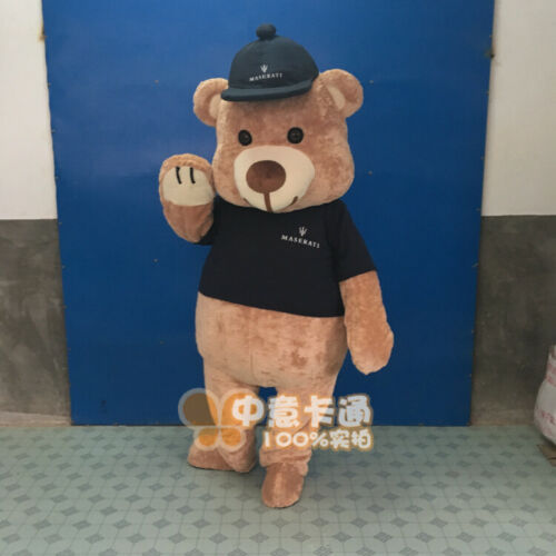 Teddy Bear Costume Cartoon Mascot Plush Animal Cosplay Fancy Dress Parade Adults Apparel Cartoon Character Birthday Clothes Gift