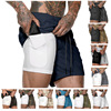 2020 New Men's Camouflage Shorts Mens 2 in 1 Sports Shorts Male double-deck Quick Drying Sports men Shorts Jogging Gyms Shorts