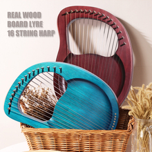 Portable Beginner 16 String Entertainment Practice Gift Mini Lier Harp Musical Instrument Solid Wood Travel Party Professional