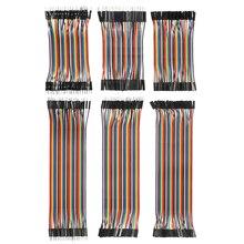 240 шт макетная Перемычка провода Разноцветные 80 Pin M/M+ 80 Pin M/F+ 80 Pin F/F(10 см/20 см) Ленточные кабели комплект