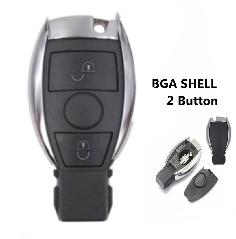2 button Replacement Shell Smart Remote <font><b>Key</b></font> Case for <font><b>Mercedes</b></font>-Benz BGA CLS CLK CLA SLK <font><b>W203</b></font> W210 W211 AMG W204 image