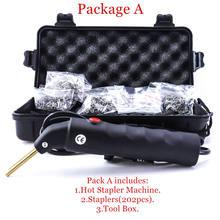 Máquina de reparación de parachoques de coche, Kit de reparación de plástico de 110 240V, soldadora de PVC ABS, herramientas de garaje, máquina grapadora caliente