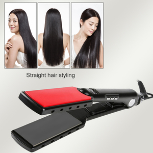 Image 3 - Professional Hair Straightener High Temperature Wide Plates Keratin Straightening Irons Styling Tool Titanium Flat Iron LED Dis