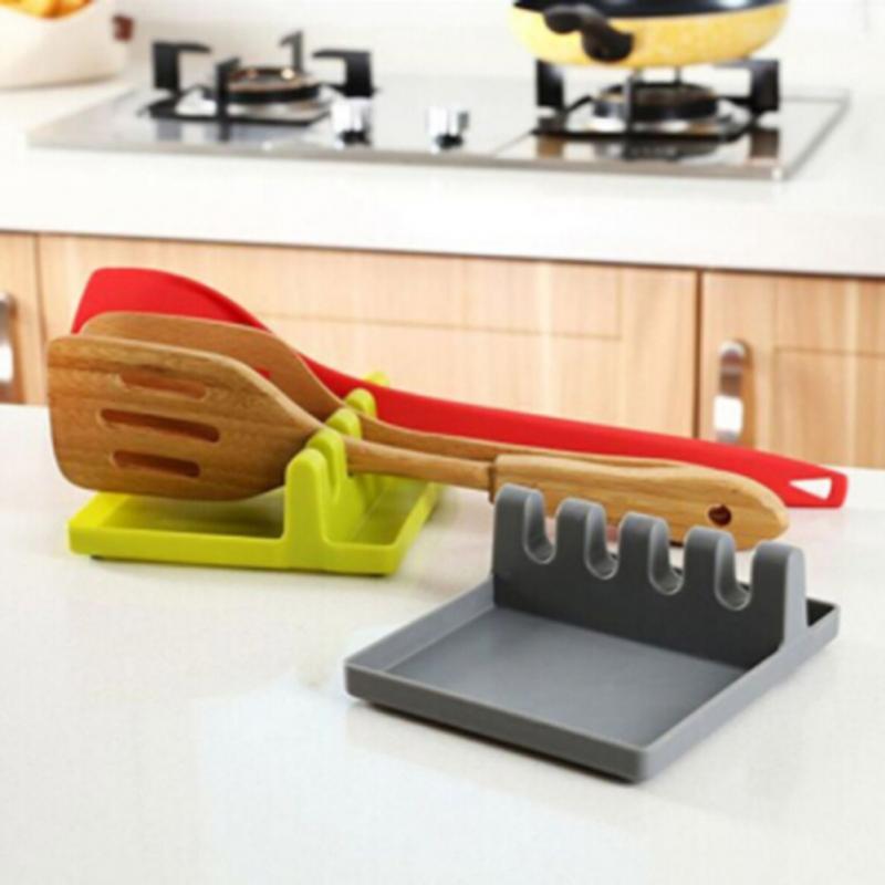 Creative Anti-Slip Silicone Kitchen Utensil Storage Rack Spoon Rest Holder