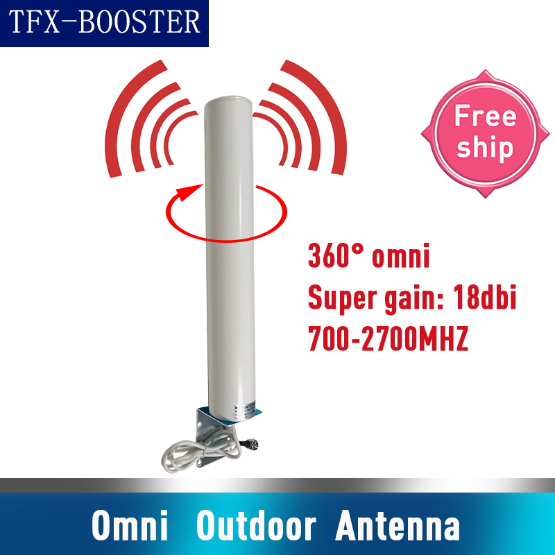 TFX-BOOSTER 18dbi 360° Omni External Antenna 2G GSM 3G WCDMA 4G LTE Mobile Phone Cellphone All Band Antenna For Signal Booster