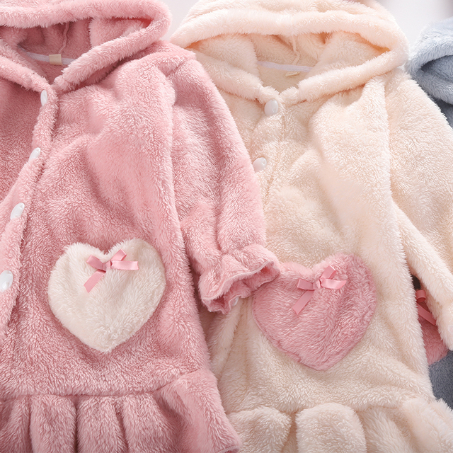 Kids Girl Robe 2020 Bathrobe Hooded for Girl Pyjamas Nightgown Double-sided Soft Flannel Pyjamas Children Warm Clothes 3-12Years 5