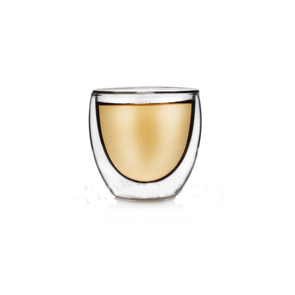 Детская одежда на рост 80, 250/350/450 мл чайник для заварки из термоустойчивого с двойными стенками, Стекло пивной бокал, Кубок Кофе чашки ручной работы здоровый напиток кружка Чай кружки прозрачный посуда для напитков - Цвет: A 80ml