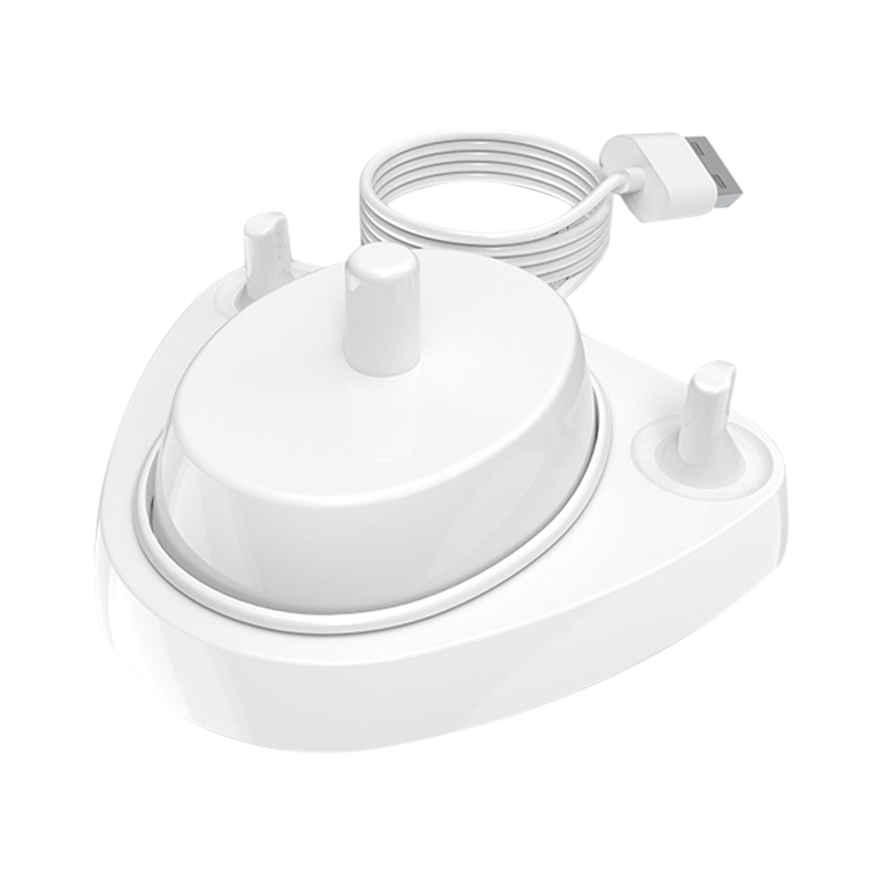 For Braun Oral B Toothbrush Replacement Charger Power Supply Inductive Charging Holder Model 3757 USB Cable White