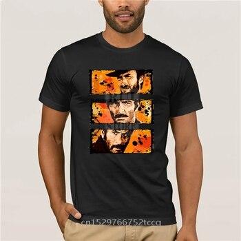 Camiseta deportiva para hombre Clint Eastwood Good Bad Ugly hip hop Kpop de algodón, cuello redondo, divertida camiseta estampada de manga corta para hombre, tendencia