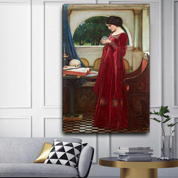 Holover Canvas Oil Painting Aesthetic Home Decoration William Waterhouse