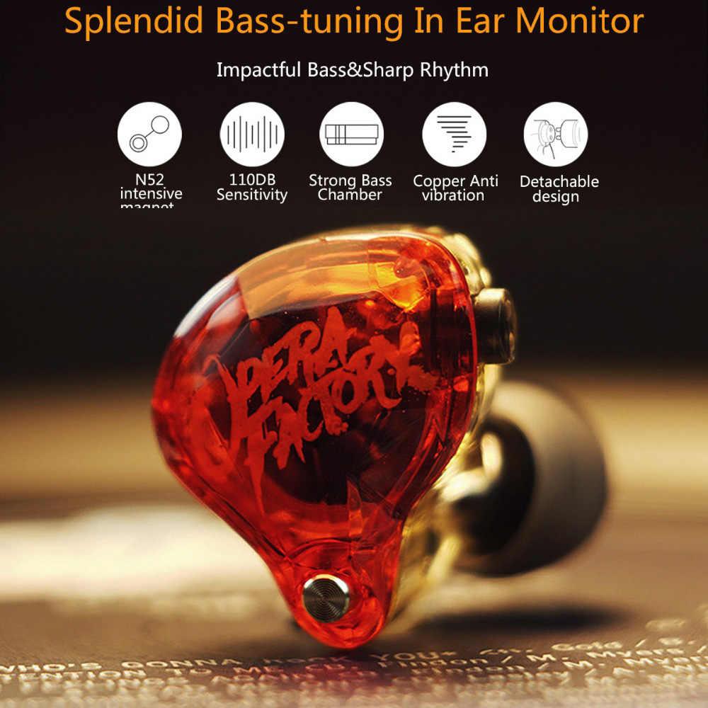 Opera Factory OM1 3.5mm przewodowe słuchawki super stereo dźwięk słuchawki zatyczki do uszu słuchawki 2Pin HIFI niestandardowe Audio diamentowy bas