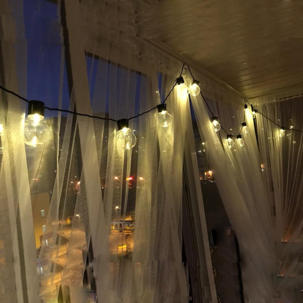 Image 4 - 10m 38 led globe bulb string fairy light christmas light G45 5m 10m wedding party led fairy string light festoon garland outdoor-in LED String from Lights & Lighting