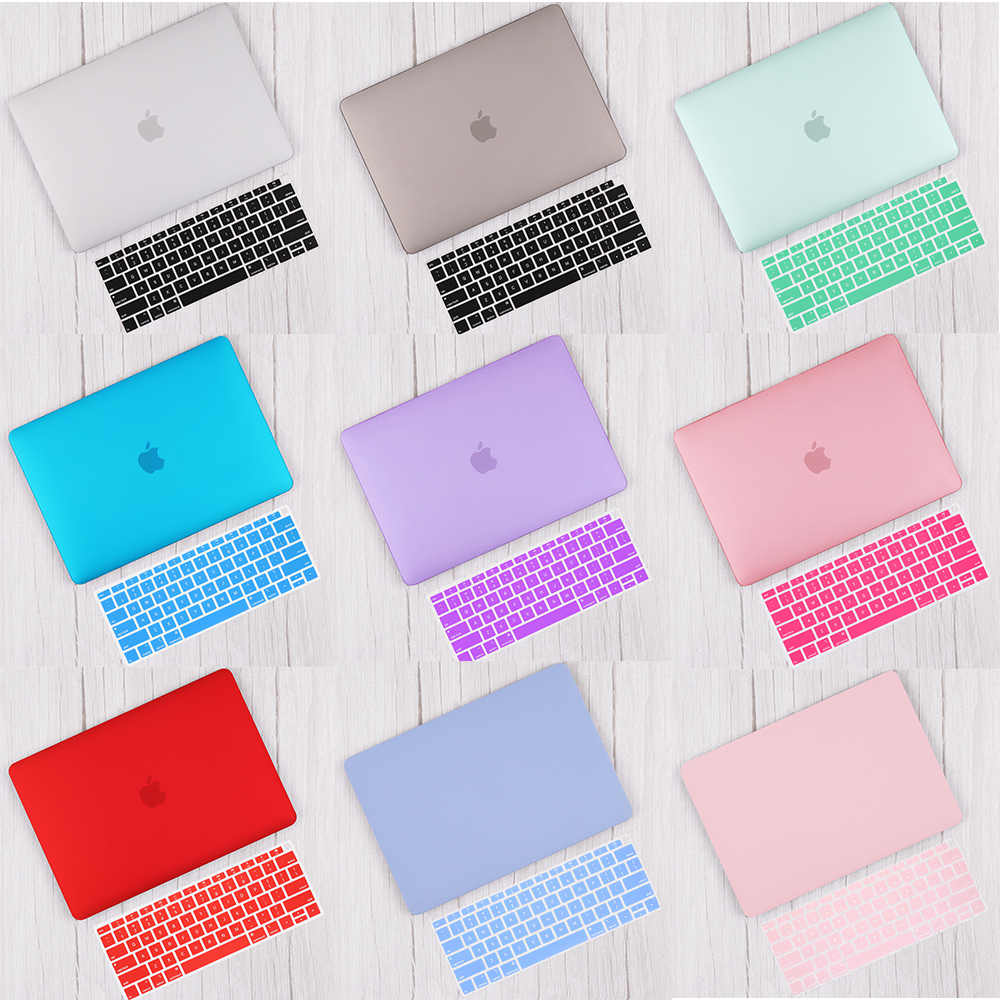 Redlai Matte & Crystal Hard Shell Case dengan Keyboard Cover untuk MacBook Pro 2019 16 Touchbar A2141 2018 Air 13 a1932 Retina 11 15