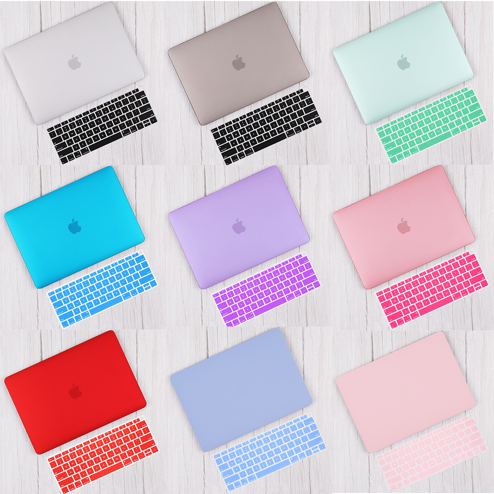 Redlai Matte & Crystal Hard Shell Case with Keyboard cover For 2019 Macbook Pro 13 TouchBar A2159 2018 Air 13 A1932 Retina 11 15 image