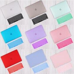 Redlai Matte & Kristall Hard Shell Fall mit Tastatur abdeckung Für 2019 Macbook Pro 16 TouchBar A2141 2018 Air 13 a1932 Retina 11 15