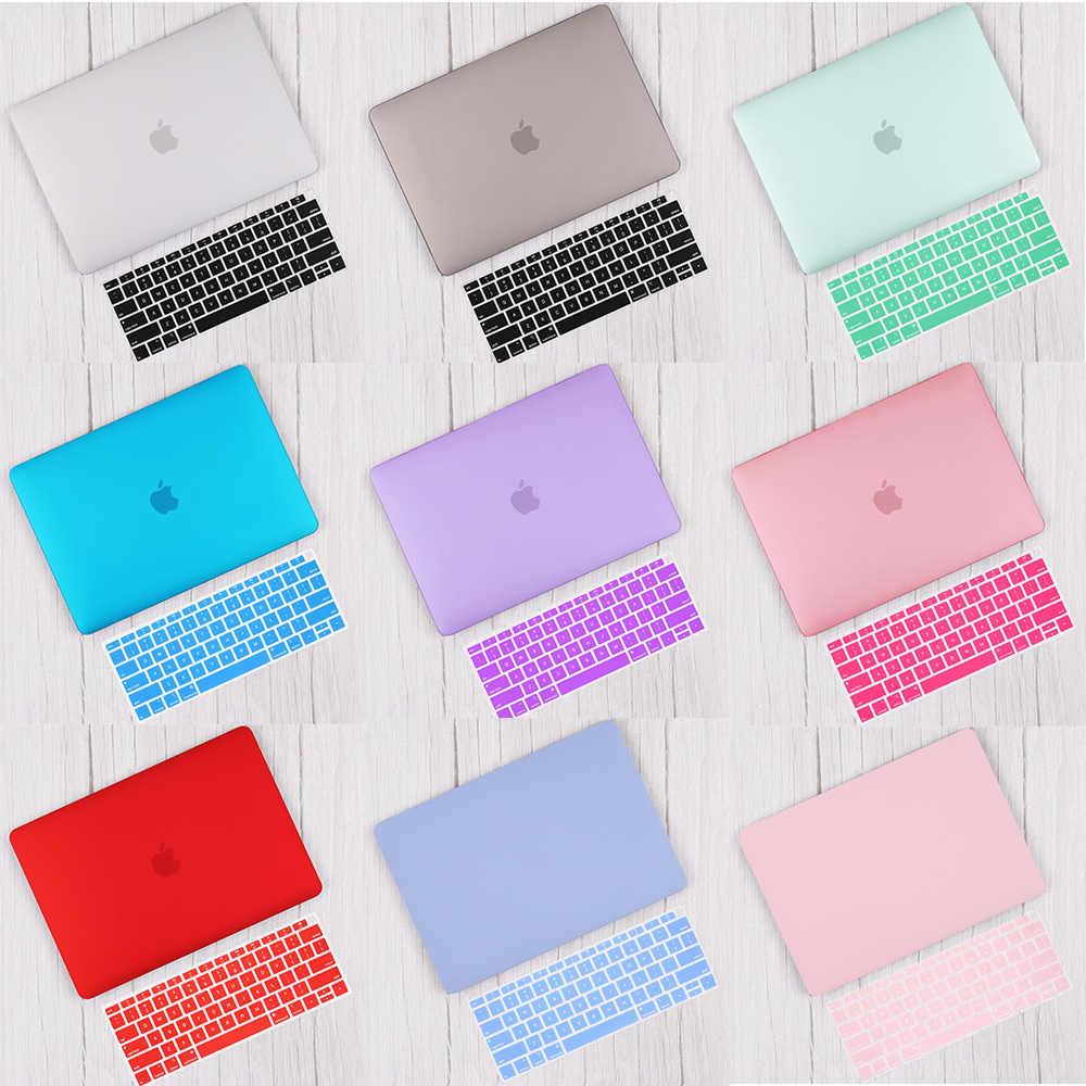 Redlai mat & cristal coque rigide avec housse de clavier pour 2019 Macbook Pro 16 TouchBar A2141 2018 Air 13 A1932 Retina 11 15