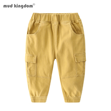 Mudkingdom Boys Cargo Pants Chino Jogger Solid Elastic Waist Trousers for Kids