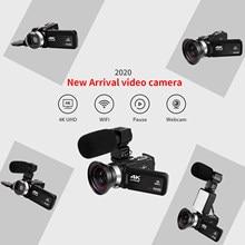 4K Tela Sensível Ao Toque de Controle Remoto de Vídeo Webcam Filmadora 3.0 Polegada Youtube Facebook WiFi Da Câmera Ao Ar Livre Fotografia De Vídeo Handycam