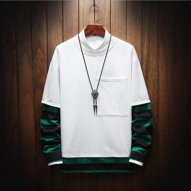 2019 New  autumn winter casual round neck hoodies  of clothing men sportwear fleece sweatshirts pullovers Free Shipping
