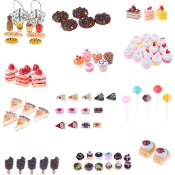 5 sztuk sztuczna piekarnia ciasto chleb jedzenie owoce banan domek dla lalek zabawka kuchenna Craft DIY akcesoria do ozdabiania fałszywe miniatury tanie i dobre opinie KittenBaby Żywica Wyroby gotowe do not eat Unisex 3 lat Żywności 1 12 Simulation Kitchen Toys