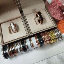 BV – bague en céramique avec chiffres pour homme et couple, bijoux en acier et titane à la mode, couleur romaine, or rose, envoi gratuit