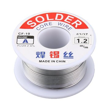 цена на 1.0/1.2mm 2% Flux Tin Lead Rosin Roll Core Silver Solder Wire Welding Soldering Repairing Tool Reel Melt Kit Electric Melting