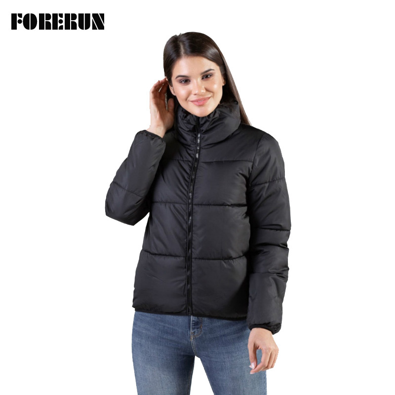 FORERUN 8 Colors Oversized Bubble Jacket Women Winter Puffer Coat Stand Collar Mint Green Jackets Thicken Parka Winterjas Dames