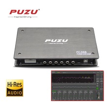 PUZU processore di segnale Digitale Puro 6ch RCA in a 8CH RCA out Auto DSP 31band EQ messa a punto di supporto del computer software di regolazione
