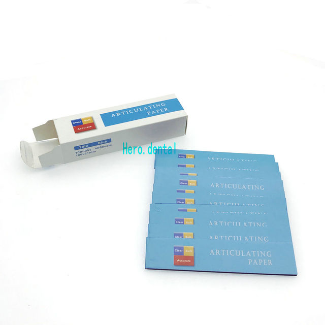 Dental Articulating Paper Thin Blue Strips 40 sheets/book 10 books/Box