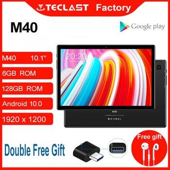 Tablet M40 10.1 cal z systemem Android 10.0 tablet PC 6GB pamięci RAM 128GB ROM 8MP aparat z dwoma 4G telefon otrzymać telefon zwrotny od Bluetooth5.0 typ OTG-C tablet pc