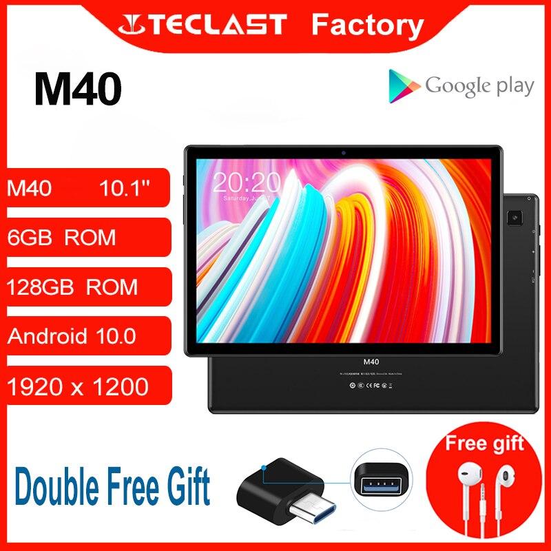 Планшет M40 10,1 дюймов Android 10,0 планшетный ПК 6 ГБ Оперативная память 128 Гб Встроенная память 8MP Камера Dual Core 4G Телефонный звонок Bluetooth5.0 OTG Тип-C пл...