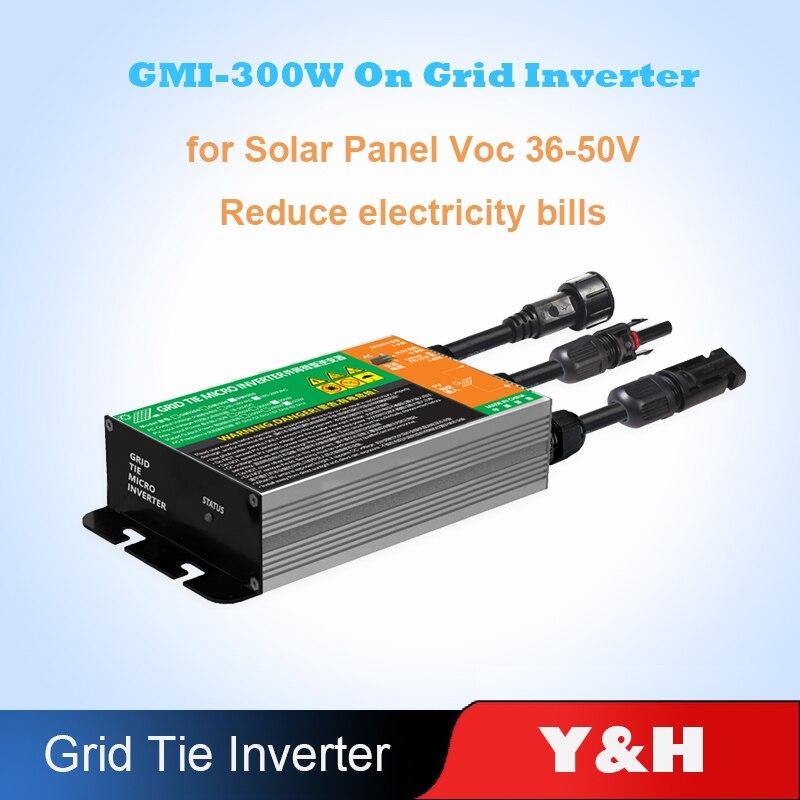 Водонепроницаемый 350W 300 Вт со слежением за максимальной точкой мощности, солнечный PV сетки галстук инвертора микро-инвертор GMI серии Вход ...