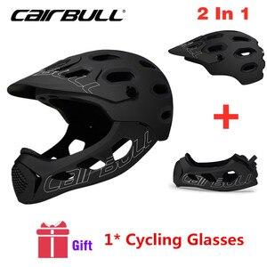 Image 1 - Cairbull Mountain Bike Helmet Adult Full Covered Downhill  Full Face Helmet OFF ROAD MTB Road Bicycle Helmet Cycling Helmet BMX
