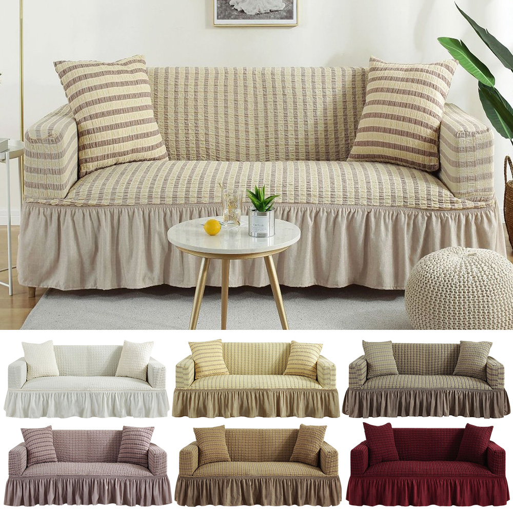 Stretch Slipcovers Sofa Cover All-inclusive Slip-resistant Sectional Elastic Full Couch Cover Sofa Towel Single/Two/Three Seater