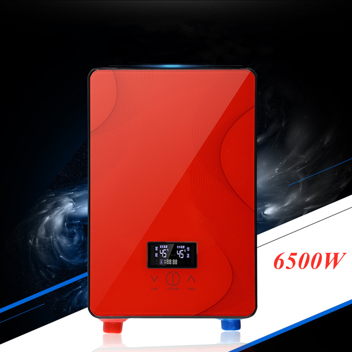 6.5KW 220V Instant Heating Electric Water Heater LED Display Electric Hot Water Heater Constant Temperature Shower Bathroom Home
