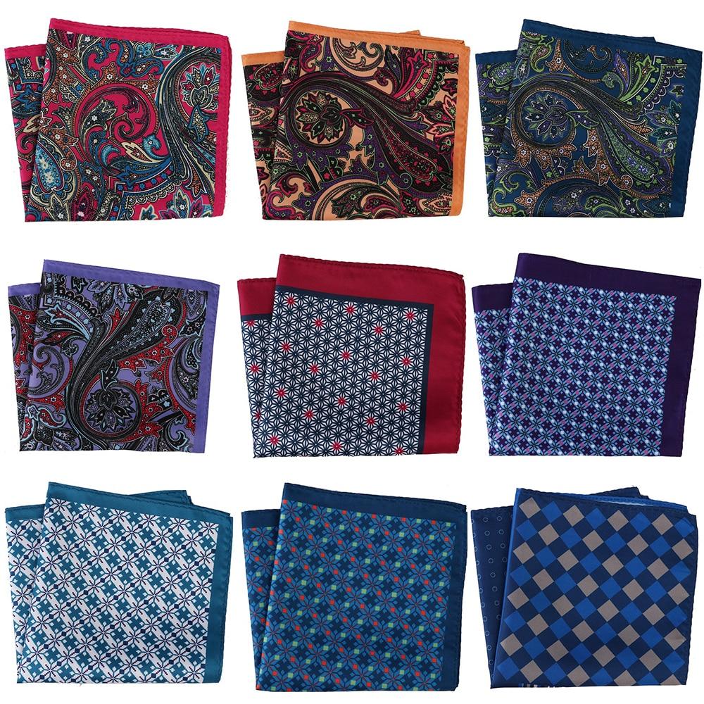 30*30CM Men's Handkerchief Men Pocket Squares Floral Paisley Scarf Hankies Chest Tower Printed Mens Towel Gift Wedding Party