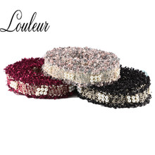 Louleur New Fashion 2 yord/lot 3cm Polyester cloth Cord with pearl handmade original design Macrame Collar Tassel