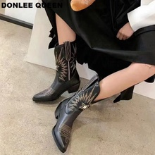 Autumn Ankle Boots Women Microfiber Leather Wedges High Heel Western Boots Pointed Toe Fashion Winter Short Boots Women Shoe New jookrrix 2018 summer new girl western style fashion ankle boots rivets shoe women sexy lady shoe black good quality fish mouth