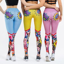 Pop!2020 New Women Funny Cartoon Leggings Female High Waist Printing Pant Leggings Sexy Fitness Sports Pants Workout Leggings