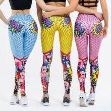 Pop!2020 nowych kobiet śmieszne legginsy z kreskówek kobiet wysokiej talii drukowanie spodnie legginsy Sexy Fitness sportowe spodnie legginsy treningowe