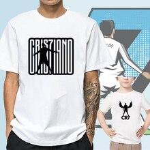 Криштиану Роналду CR7 футболка лето с коротким рукавом Мужчины Женщины родитель-ребенок наряд рубашка дети мальчики девочки футболки топы тройники