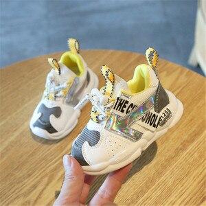 Image 3 - DIMI 2019 Outono Infantil Menina Menino Respirável Sapatos Sneakers Moda de Correspondência de Cores Suaves Criança Inferior Do Bebê Sapatos Caminhantes