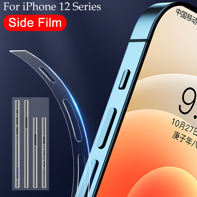 Transparent Hydrogel Film For Apple iPhone 12 Pro Max Phone Side Film iPhone 12 mini Ultra-thin Border Protective Film Not Glass 1