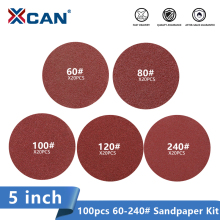 Paper-Disc Polishing-Sanding-Disc Abrasive 240grit Rotary XCAN 100pcs 5inch for 60-80-100-120