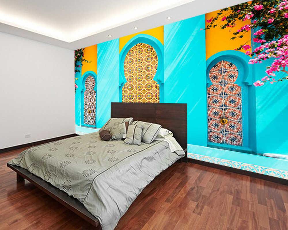 Papel De Parede Marokko Architektur Stadt Gebaude 3d Tapete Wohnzimmer Home Tv Wand Schlafzimmer Wand Papers Home Decor Wandbild Tapeten Aliexpress