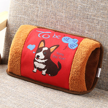 Cute Cartoon Hand warmer Treasure Hot water Bottle Charging Electric Water Bag Plush Heating Warm Po JJ50588