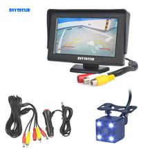 DIYKIT Wire 4.3 inch TFT LCD Car Monitor Rear View Kit Reversing HD LED Camera Auto Parking Assistance System цена