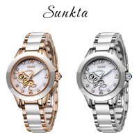 SUNKTA Simulation Quartz Women Watches Top Brand Luxury Simple Clock Women Girl Bracelet Diamond Watches Ladies Relogio Feminino