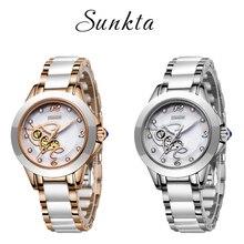 SUNKTA montre à Quartz pour femmes, marque supérieure de luxe, Bracelet Simple en diamant pour femmes et filles